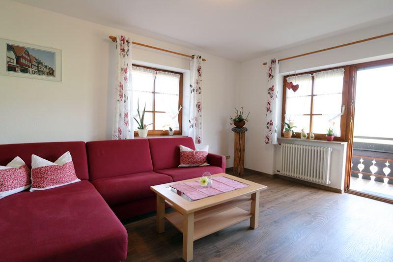 Ferienwohnung Hugeseppehof Mühlenblick Wohnzimmer neu